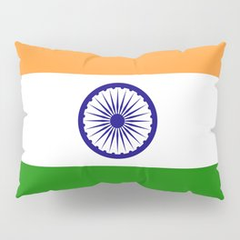 National flag of India - Authentic version to scale and color Pillow Sham