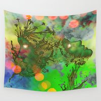 """gemini Wall Tapestries featuring """" Gemini """" by shiva camille"""