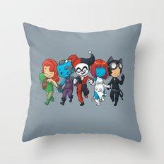 Villainous BFFs Throw Pillow