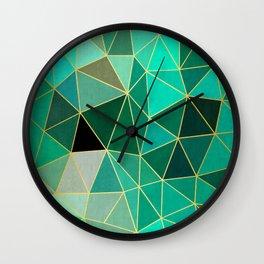 Jade and golden pattern Wall Clock