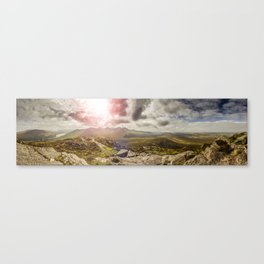 Ireland Mountain Landscape Panorama Canvas Print