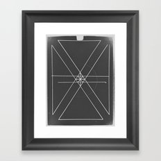 Gray Lines and Crossings Framed Art Print