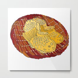 Tokyo Taiyaki Fish Metal Print