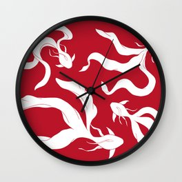 Gentle Glide | Pantone - Goji Berry Wall Clock