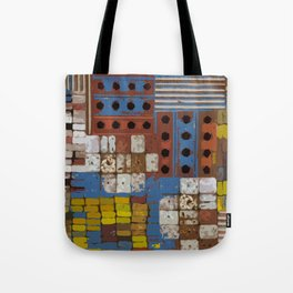 Construction geometric shapes Tote Bag