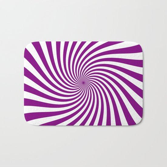 Swirl (Purple/White) Bath Mat