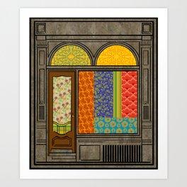Shop windows Art Print