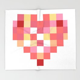Squares of Love Throw Blanket