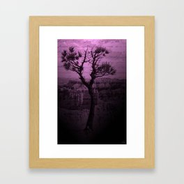 Purple Chasm Framed Art Print