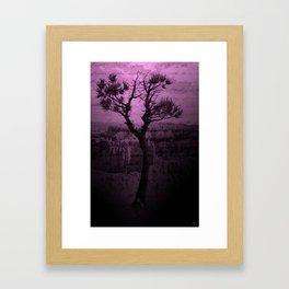 Purple Chasm Framed Art Print