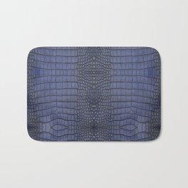Cobalt Alligator Print Bath Mat