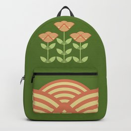 Three Japanese style flowers Backpack