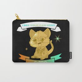 """""""I beg your paw-don!?!"""" C-3PO kitten Carry-All Pouch"""