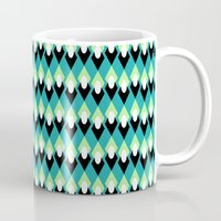 mid century modern Mugs featuring Mid-century Mod by Holly Helgeson