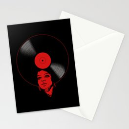Afrovinyl (Red) Stationery Cards