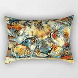 AnimalArt_Lion_20170612_by_JAMColorsSpecial Rectangular Pillow