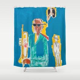 JAZZ Basquiat Shower Curtain