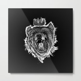 Berlin Bear King Metal Print