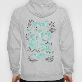 Cheetah Collection – Mint & Black Palette Hoody
