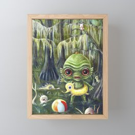 Baby Creature from the Black Lagoon Framed Mini Art Print