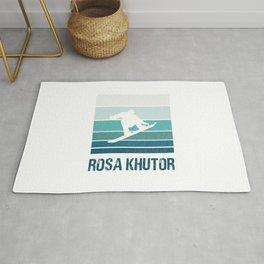 Rosa Khutor  TShirt Snowboard Shirt Snowboarding Gift Idea Rug