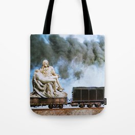 Pietà Train Tote Bag