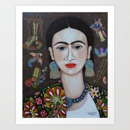 Frida thoughts Kunstdrucke