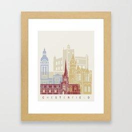 Chesterfield UK skyline poster Framed Art Print