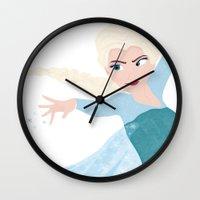 elsa Wall Clocks featuring ELSA by Lauren Lee Design's