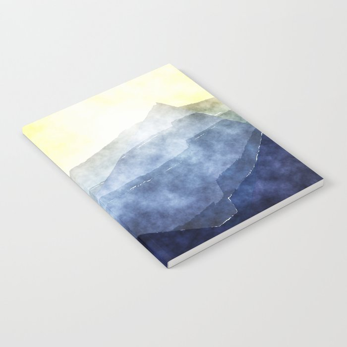 Sun behind the mountains - Modern abstract triangle Dreamscape Notebook