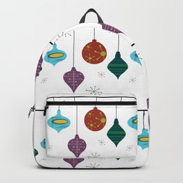 Mid-Century Modern Hanging Holiday Pattern Ornament Bulb  Backpack