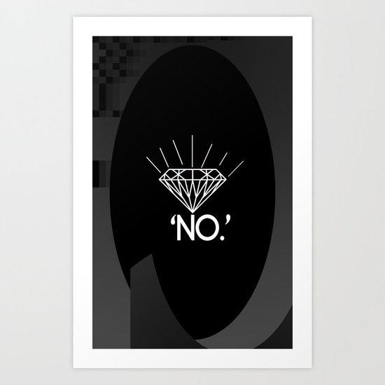 No. Art Print