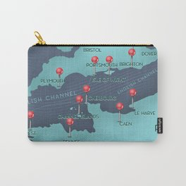 English Channel Nautical Map Carry-All Pouch
