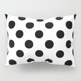 Polka Dots (Black/White) Pillow Sham