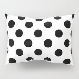 Polka Dots (Black/White) Pillow Sham