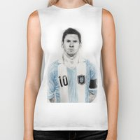 messi Biker Tanks featuring Lio Messi by Alan Myers