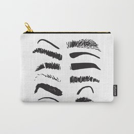 Sketchy Eyebrows Carry-All Pouch