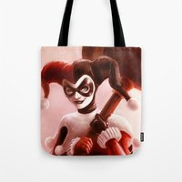 harley Tote Bags featuring Harley by fabvalle