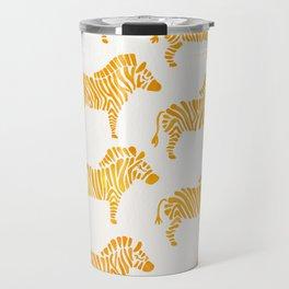 Zebras – Yellow Palette Travel Mug