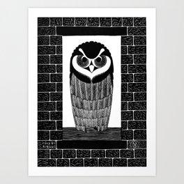 Owl Woodcut - Samuel Jessurun de Mesquita, 1914 Art Print
