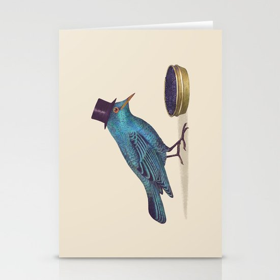 Gentlebirds Prefer Caviar  Stationery Cards