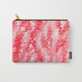 Ruby & Pastel Blush Strawberry Lace Pattern Carry-All Pouch
