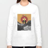 frida Long Sleeve T-shirts featuring FRIDA by Estera Lazowska