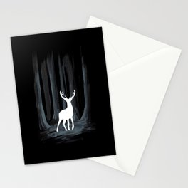 Glowing White Stag Stationery Cards
