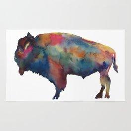 Watercolor Buffalo Bison Rug