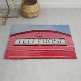Red telephone box Rug
