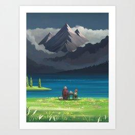 Star Lake Art Print
