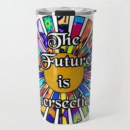 The Future is Intersectional Graffiti Sunrays Travel Mug
