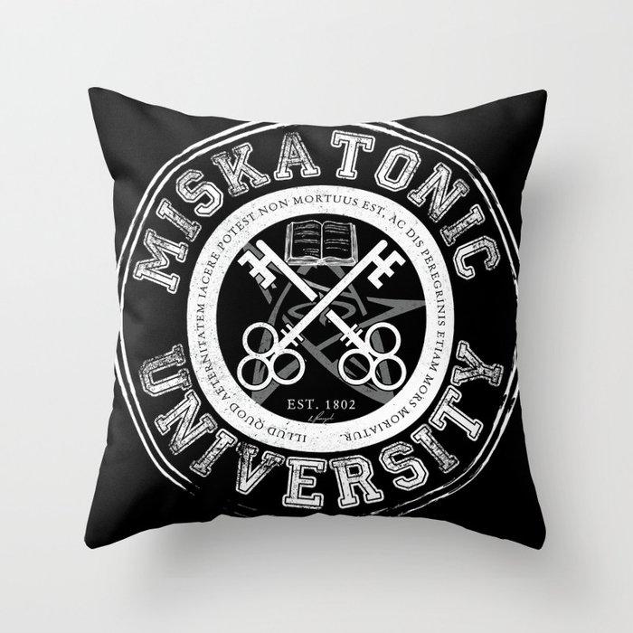 Miskatonic University Emblem (Dark version) Throw Pillow