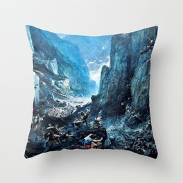 12,000pixel-500dpi - Gustave Dore - Roland1 at Roncevaux - Digital Remastered Edition Throw Pillow